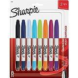 Sharpie 33861PP Twin-Tip Permanent Marker, Fine/Ultra-Fine Bullet Tips, Assorted, 8/Set