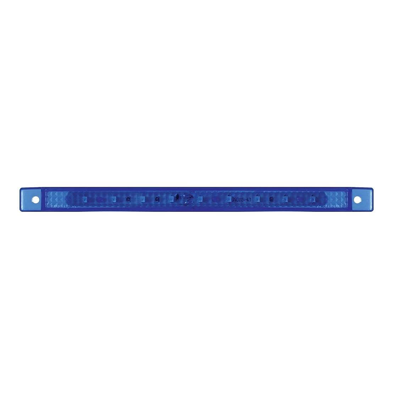 GG Grand General 76052 8-1/4 Inch Ultra Thin Blue 9 Led Interior Light Bar