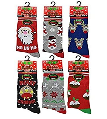 3x Pairs of Ladies Novelty Fun Christmas Socks / UK 4-8 Eur 37-42 **Fantastic Gift Idea**