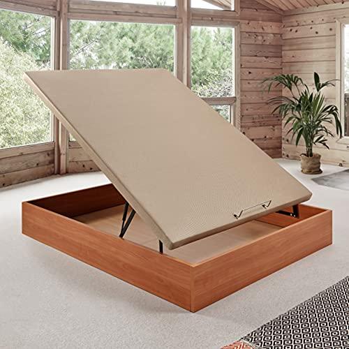 Komfortland Canapé abatible Wood de Home Medida 120x190 cm Color Cerezo