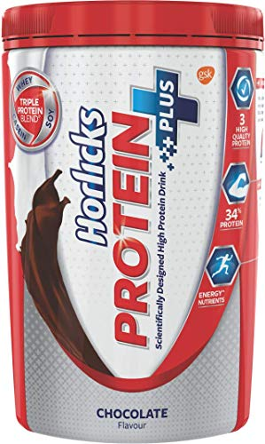 Horlicks Protein+ Health and Nutrition Drink - 400 g Pet Jar (Chocolate)