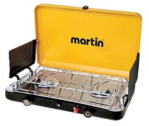 Martin 2 Burner Propane Stove Grill Gas 20 000 Btu Outdoor Trip Accessory Portable