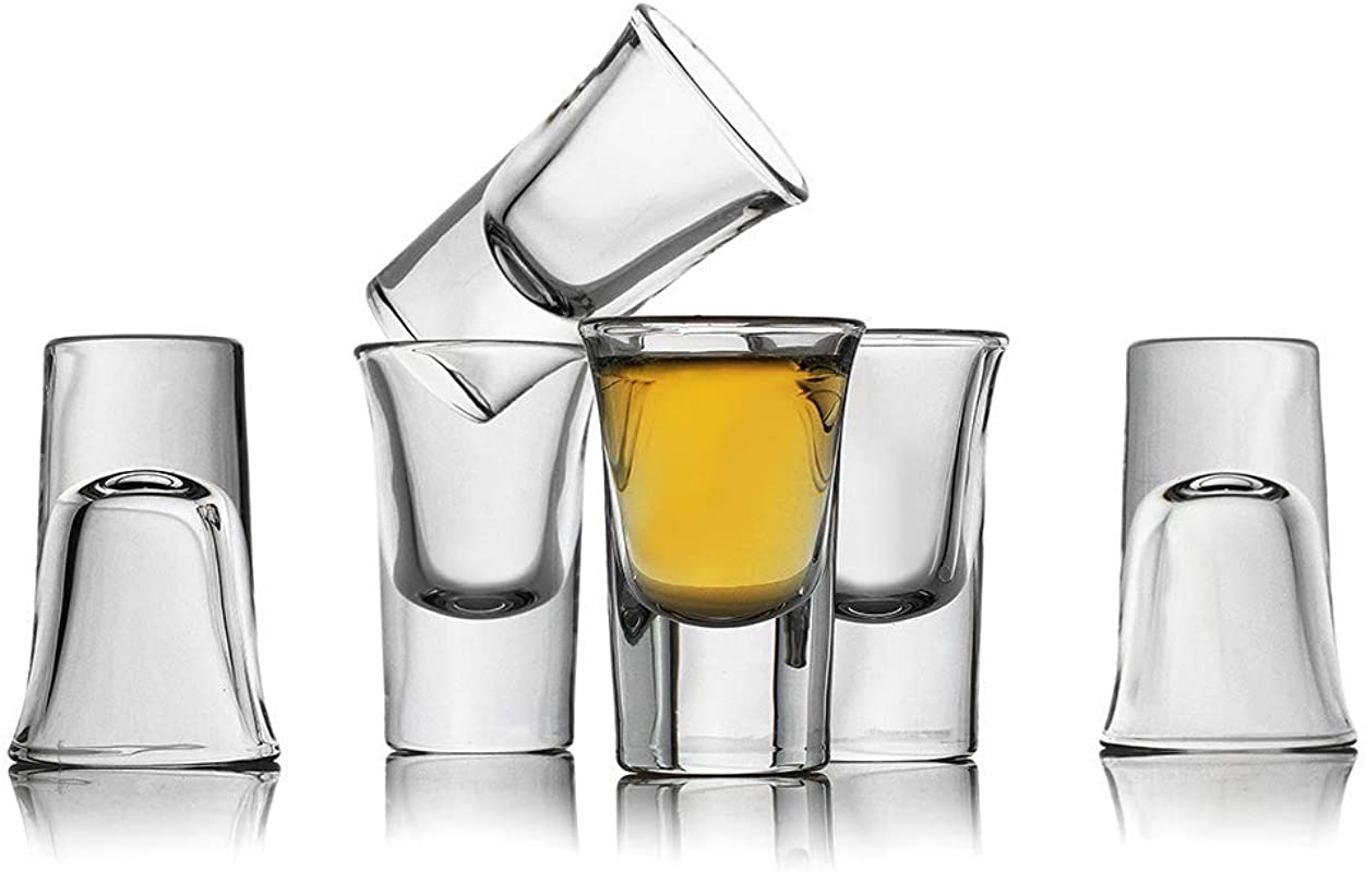 Bavel Shot Glass Set Of 6 Heavy Base Clear Shot Glass Great For Whisky Brandy Vodka Rum And Tequila Shot Set 0 9 OZ