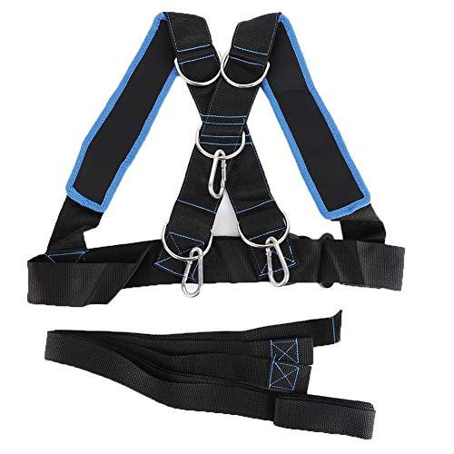 Snelheid krachttraining slee schouderriem weerstand band riem sportuitrusting overbelasting loopweerstand band weerstand touw kit verbeteren van snelheid, uithoudingsvermogen en kracht