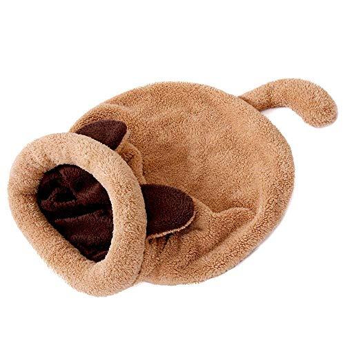 Anjing Saco de dormir para gatos de forro polar suave, autocalentable, lavable, para acurrucarse, manta para gatitos ⭐