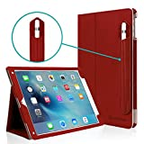 iPad Pro 10.5 Case, CaseCrown Bold Standby Pro Case (Red) w/Detachable Apple Pencil Holder