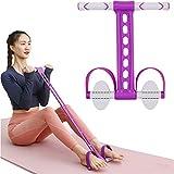Banda de resistencia de pedal, expansor multifunción V-RESOURCING Bodybuilding, cuerda elástica para ejercicios de abdominales, cintura, brazo, yoga, estiramiento y adelgazamiento