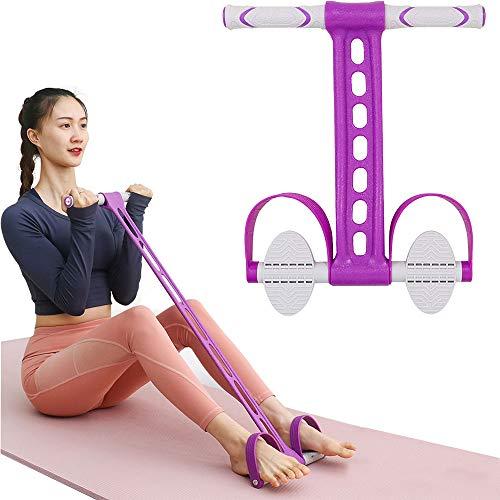 Fascia di resistenza del pedale,Espansore multifunzione per bodybuilding, Esercizio di sit-up fitness con corda elastica per addome, vita, braccia, allenamento dimagrante con stretching yoga