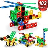 Fivejoy 103 Pièce Blocs de Construction, DIY Jeu de Construction, Jeux éducatifs pour garçons et Filles, Jouets de...