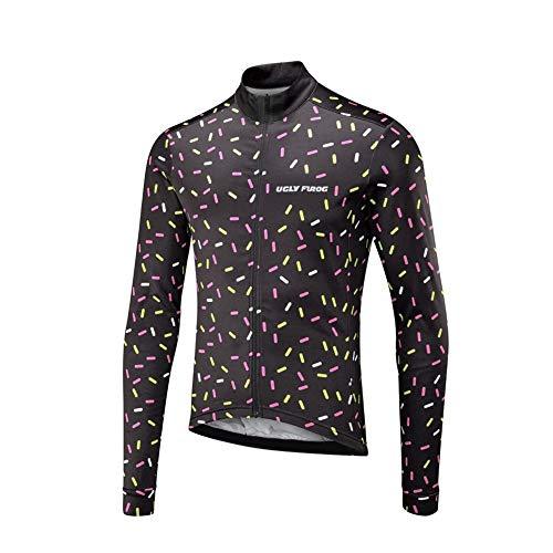 Uglyfrog Maglia Ciclismo Boby Tuta Manica Lunga Bretelle da MTB per Uomo MCP04