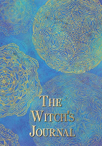 The Witch's Journal: Golden Mandala on blue and turquoise background.