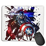 Captain America Mouse Pads Pack with Non-Slip Rubber Base, Premium-Textured and Waterproof Mousepads Bulk with Stitched Edges, Mouse Pad for Computers, Laptop, Office & Home, 18x22inches, 3mm
