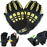 Gig Gear High Visibility All Purpose, Touchscreen Work Gloves - Original Gig Gloves (L)