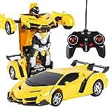 Mify 2 in 1 Telecomando Auto Guida Auto Sportive Guida deformazione Robot Modello RC Auto Giocattoli Regalo per Bambini di 6-12 Anni