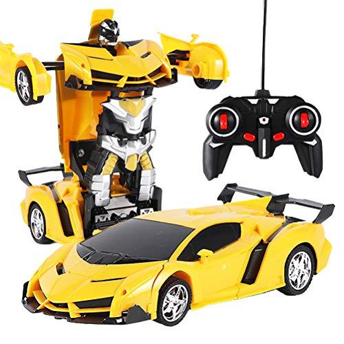 DUOCACL Mando a distancia y control por aplicación para coches, 2 en 1, control remoto para coche, conducción, deportes, juguete de lucha para niños, adultos