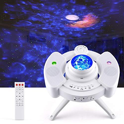 Proyector Estrellas, Proyector de Lámparas Luna, Luz Nocturna Océano, 43 Modo de Luz, Altavoz de Música Bluetooth Incorporado,...
