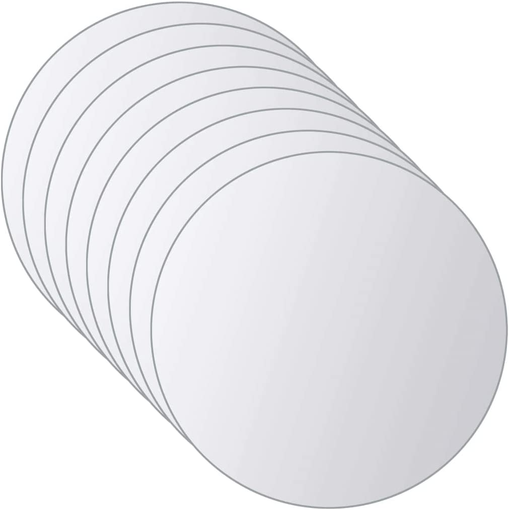 Warmliving 16 Pcs Round Latest item OFFer Mirror Titles Stick Sheets