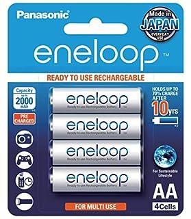 Panasonic AA Ready-To-Use Ni-MH Rechargeable Eneloop Batteries, 4-Pack (BK-3MCCE/4BA) (B077PTMGWQ) | Amazon price tracker / tracking, Amazon price history charts, Amazon price watches, Amazon price drop alerts