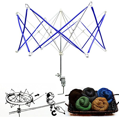 Umbrella Yarn Swift Winder Holder Hand Operated String Ball Roller Wool Knitting Tools