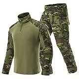 haoYK - Pantaloni traspiranti multitasche per softair mimetici, mimetici, da uomo, taglia XL, colore: blu