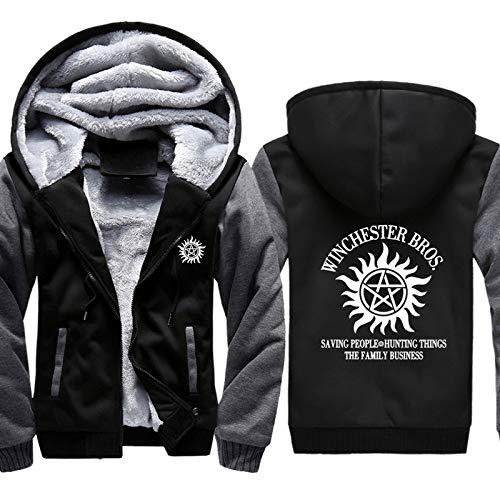 Luanda* Geben Sie Einen Kalender FüR 2021, Halten Sie Warmes Langarm-Hoodie, EuropäIsche Und Amerikanische Sweater Jacke,Supernatural PlüSchmantel/A / 5XL