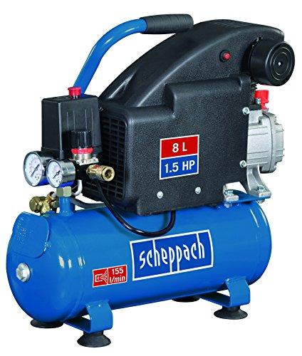 Scheppach Kompressor HC08 (8 L, 8 bar, Ansaugleistung 155L/min, ölgeschmiert, 1100 Watt)