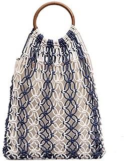TOOGOO Hollow Woven Bag New Woven Handbag Large Capacity Beach Vacation Yellow
