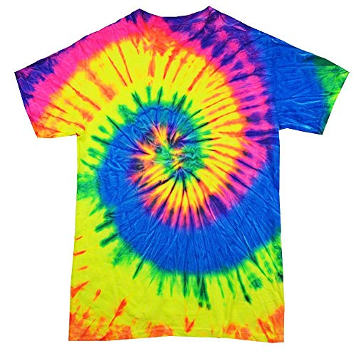 Colortone - Unisex Batik T-Shirt 'Rainbow' / Neon Rainbow, M