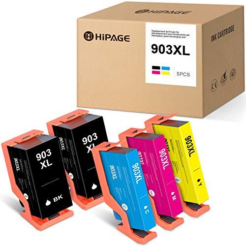 HIPAGE Cartuchos de tinta compatibles con 903 XL OfficeJet 6950 Pro 6960 6970 (2 negro, cian, magenta y amarillo)