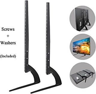 "Universal Table TV Stand Base Mount Pedestal Feet Leg for 25 26 27 28 29 30 32 37 40 55 60 65 70 75 LCD LED OLED Television for Samsung LG Sony TV, Black for 37""-75"" TV Black 43237-2"