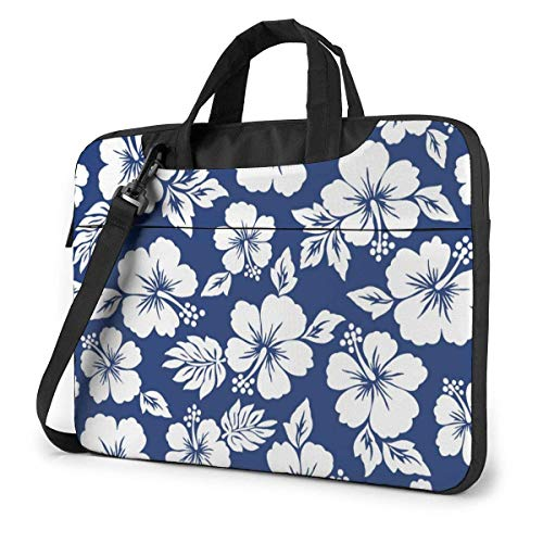Laptop Bag Satchel Tablet,Hawaii Hibiscuses Flowers Notebook Computer Case Briefcase,Laptop Shoulder Bag Sleeve Case With Shoulder Straps & Handle Ultra Thin Durable