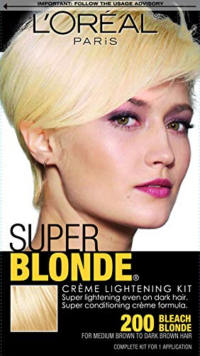 L'Oreal Paris Super Blonde Creme Lightening Kit, 200 Bleach Blonde
