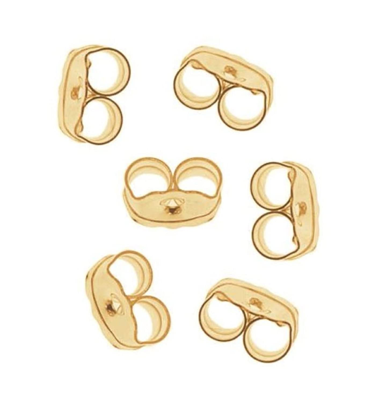 400pcs Top Quality Hypoallergenic Earring Safety Backs Stopper Earnut Ear Nuts Beads Gold Plated Brass Earrings Making Findings CF112-G