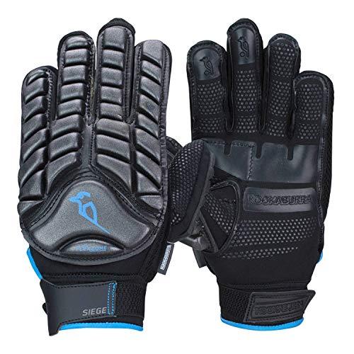 KOOKABURRA Siege Hockey Handguards, schwarz/blau, Medium Right Hand