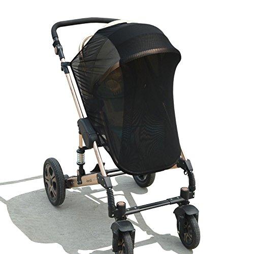Parasol de Bebés, universal parasol & mosquitera para Cochecitos/Silla de Paseo de Bebé/Carrito de bebé, Doble Tejido para Máxima Protección contra Rayos UVA, avispas y mosquitos