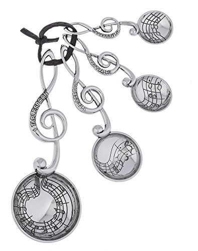 Music Lovers 4 Piece Trebel Clef Measuring Spoon Set