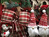 TreElf Burlingame Christmas Ornament Set for Your 6 ft.Tree. Complete, All in One Ornament Decoration kit Includes 100 Pieces, Including Exclusive Hand Crafted, Wire Edge Bows!