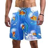 LORVIES - Bañador para hombre, diseño de peces dorados y acuarios, talla L multicolor XXL