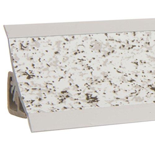 HOLZBRINK Alzatina Colore Granito Chiaro per Piano di Cucina, listella di Terminale in PVC, 23x23 mm 150 cm