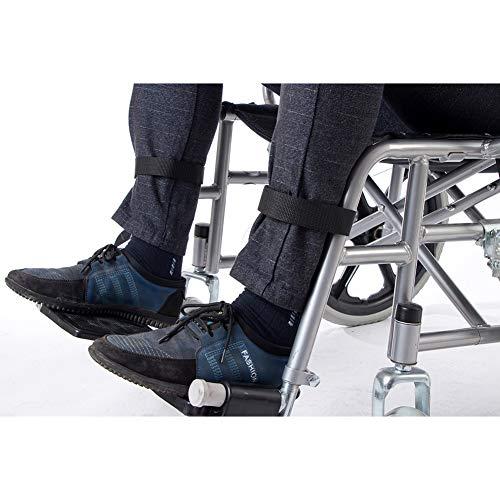 Rollstuhl-Fußstütze, Beinstütze, 2 Stück, Rollstuhl-Sitzgurt, medizinische Sicherheit, Transport, Fußstützgürtel für Senioren, Handicap Zubehör