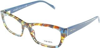 Prada PR18OV NAG1O1 Eyeglass, Havana Spotted Blue, 52 mm