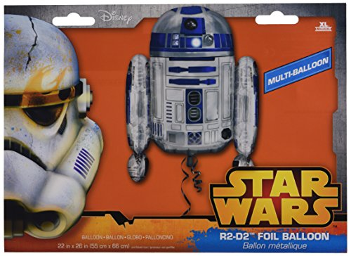 Amscan Anagram 3039901 - Folieballon Super Shape, Disney Star Wars, R2D2, 55 x 66 cm