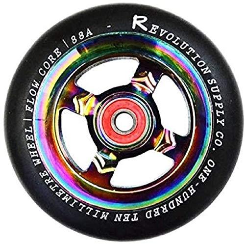 Revolution flow stunt scooter wheels oilslick rainbow roulement à billes neochrome wheel 110 mm