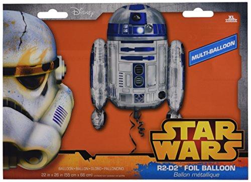 Amscan Anagram 3039901 - Star Wars R2D2 Foil SuperShape Balloon - 26 Inch