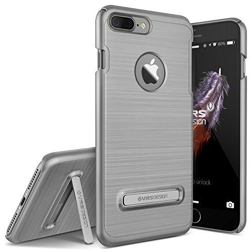 VRS DESIGN Urcover Custodia Ultra Slim Apple iPhone 7/8 Plus Simple Lite, Back Cover Rigida con Stand Clip Supporto Antracite, Protezione Retro Ultra Resistente