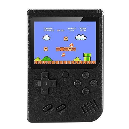YuanWen Handheld Game Console Built-in 400 Classic Games Mini TV Game Box Retro Black