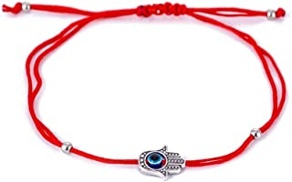 Red String Kabbalah Evil Eye Charm Bracelets for Protection and Luck Adjustable Hand-Woven Red Cord Thread Friendship Bracelet Amulet Jewelry