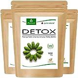 MoriVeda® - Moringa Detox 900mg Tabs - 360 o 120 - moringa, cebada, linaza y espirulina para la desintoxicación del cuerpo - Multipack (3x120 tabletas)