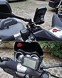 BrainWizz ® Soporte de fijación de la Motocicleta/Moto/Bici con el Caso Impermeable para el iPhone y los teléfonos Inteligentes 5/5S/4/4S tamaño Equivalente