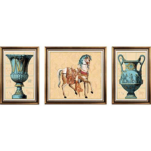 Glz Peinture à l'Huile Peinture de Diamant 5D Pleine Foret Triple Peinture 120 * 51CM 150 * 62CM